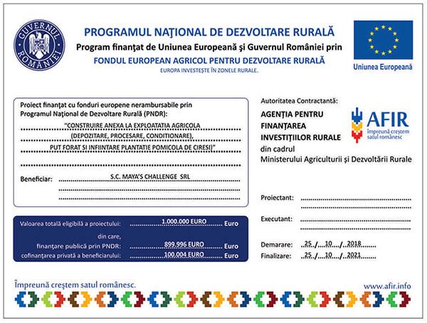 proiect european agricol-cirese intensiv mayas afir